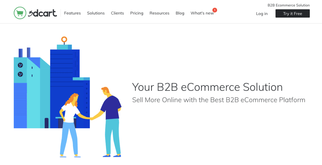 3dcart b2b ecommerce website platform