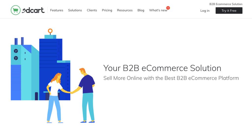 3dcart b2b ecommerce website platform