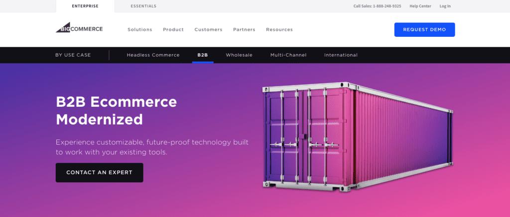 BigCommerce B2B ecommerce script homepage