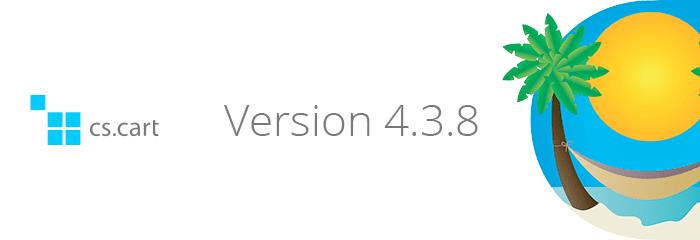 CS-Cart versie 4.3.8