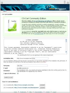 CS-Cart addon for cPanel