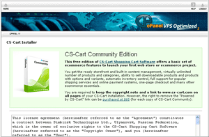 CS-Cart addon for cPanel
