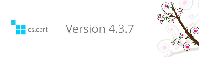 CS-Cart versie 4.3.7