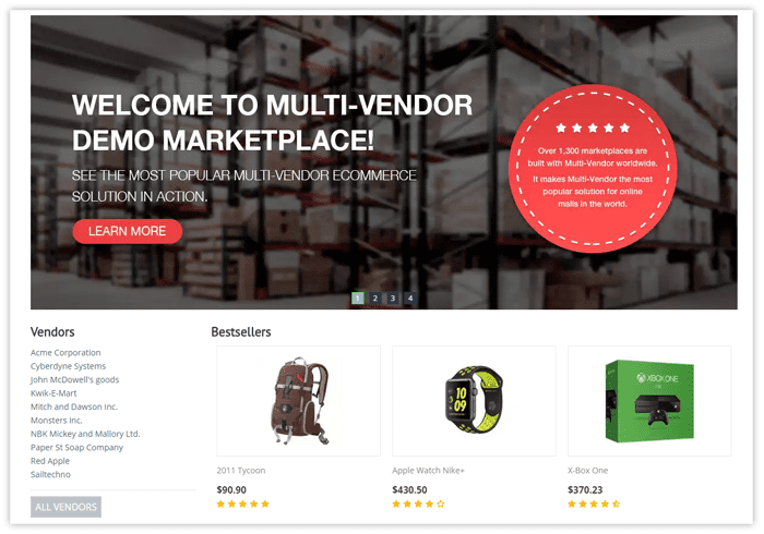 Multi-Vendor demo