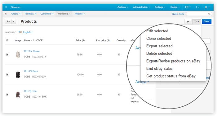 eBay for free in CS-Cart 4.4.1