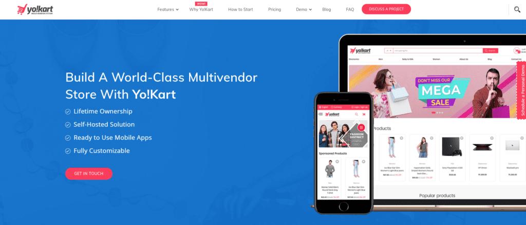 Yo!Kart Marketplace solution features