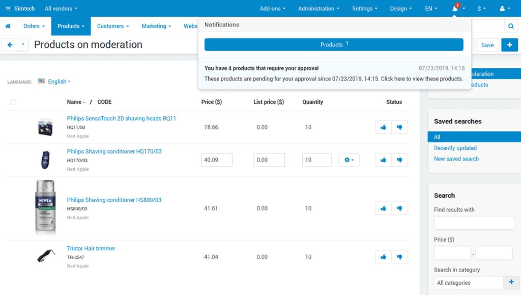 Meet Multi-Vendor 4.11.1 with Storefront Customization and Moderation Improvements: photo 6 - CS-Cart Blog