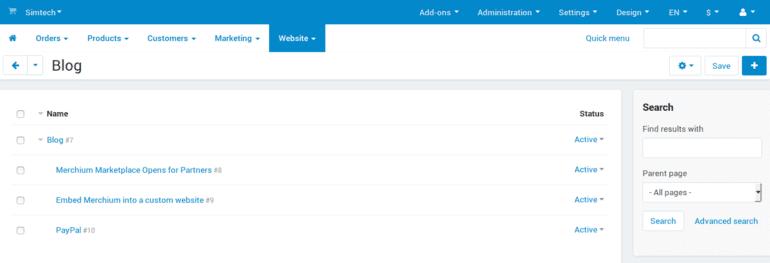 Τα ID των χαρακτηριστικών, των σελίδων και των αναρτήσεων ιστολογίου εμφανίζονται τώρα στον πίνακα διαχείρισης.
