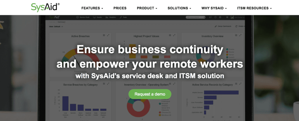 sysaid help desk program