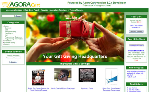 agoracart free shopping cart