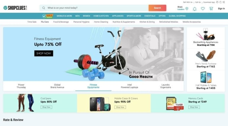 The largest marketplace in India—ShopClues