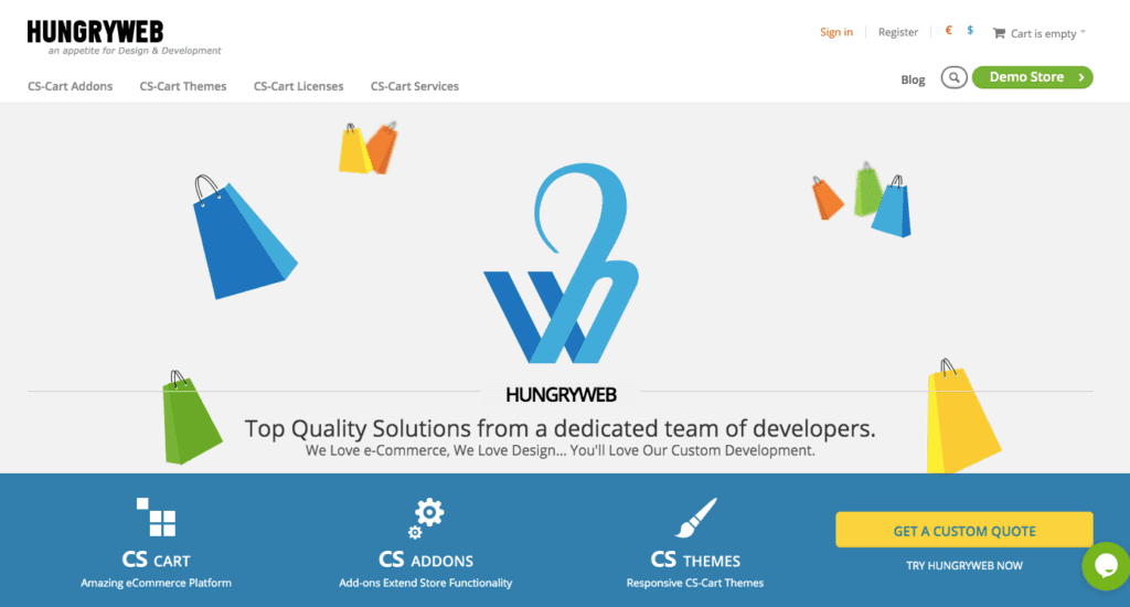hungryweb cs cart developer