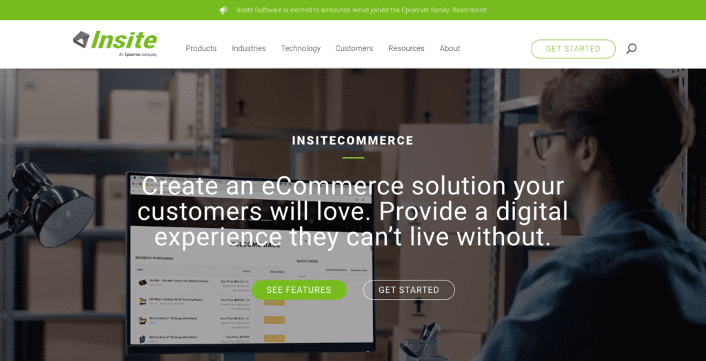 InsiteCommerce wholesale ecommerce solution