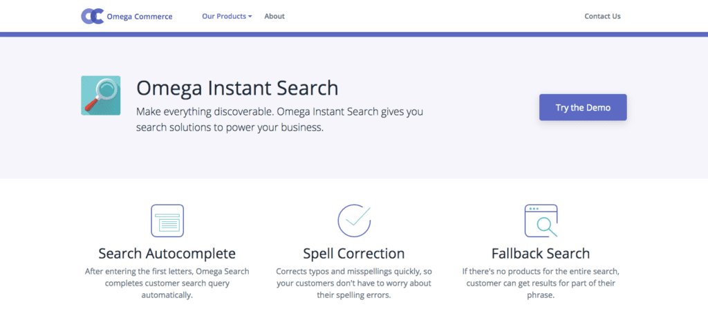 omega instant search service