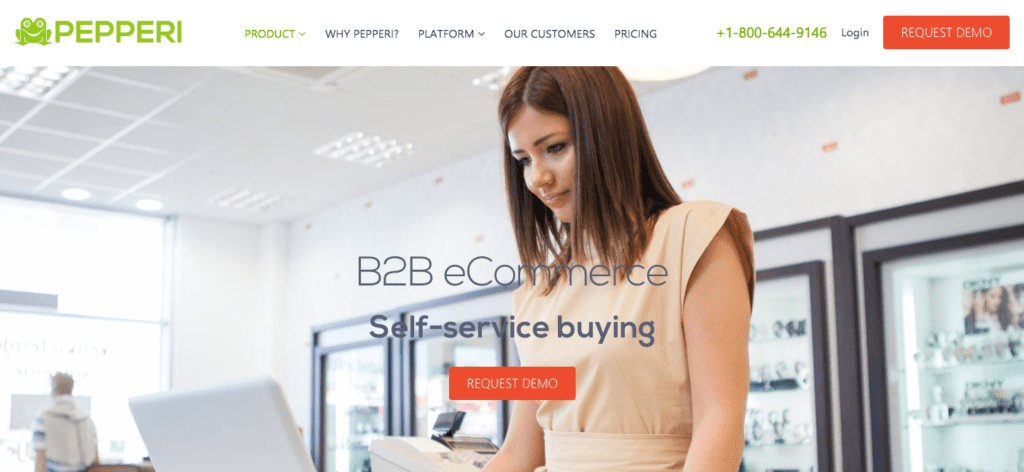 pepperi wholesalers ecommerce cms