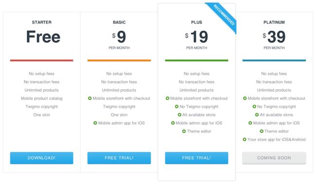 Twigmo 3 Plans & Pricing