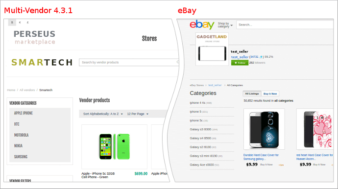 New Look of the Vendor Page: photo 2 - CS-Cart Blog