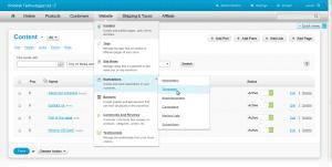 CS-Cart admin panel redesign multi-level drop-down menus