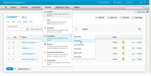 CS-Cart admin panel redesign multi-level drop-down menu thumb
