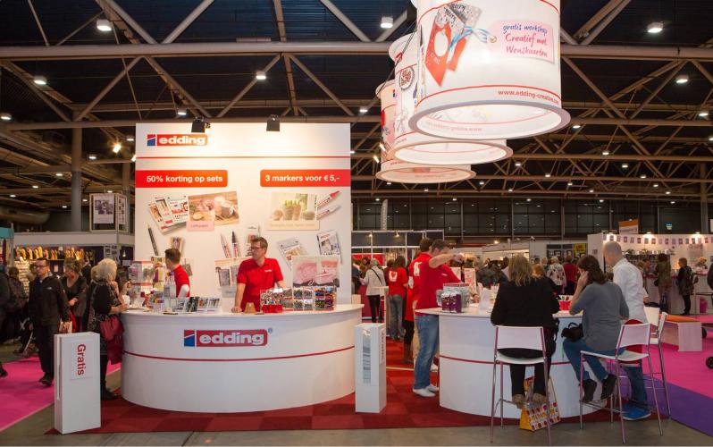 Edding-Shop b2b ecommerce company on the expo