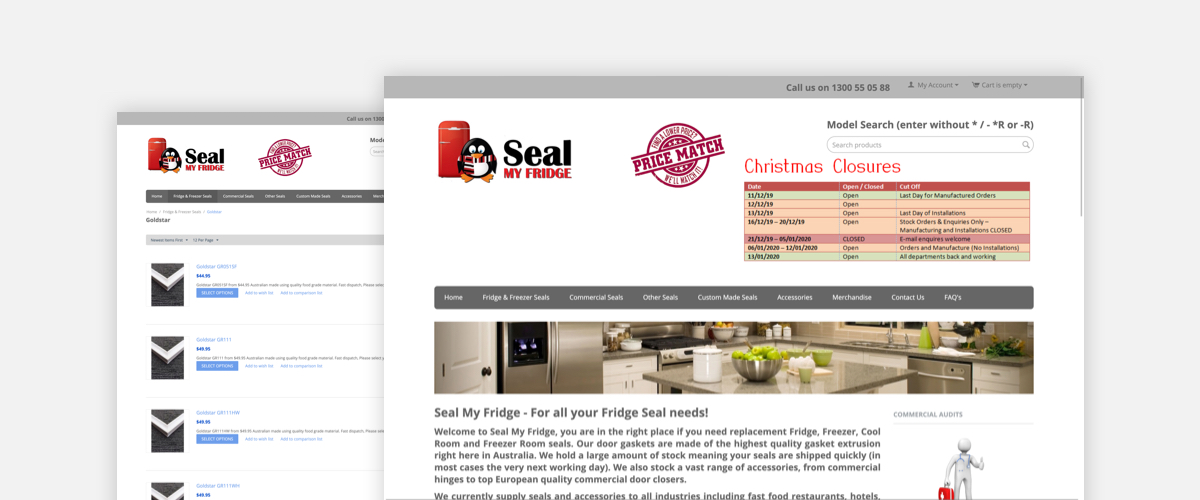 Seal My Fridge b2b ecommerce web site