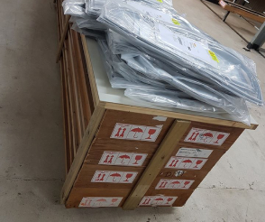 Wholesaler company's products ready to be delivered