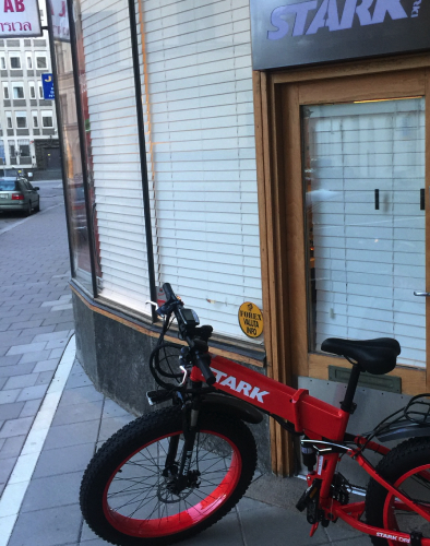 Stark Drive red bike