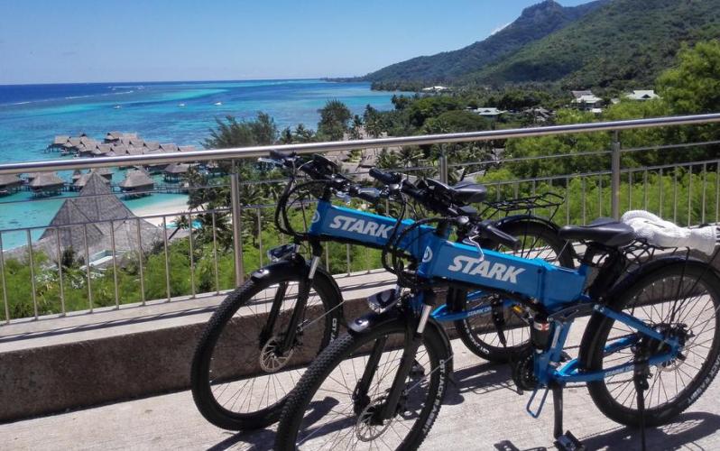 Stark Drive blue bikes