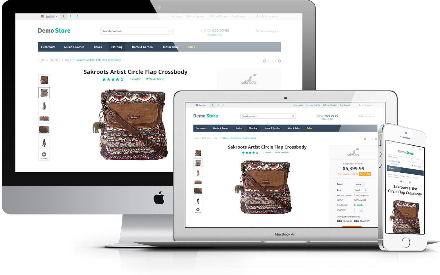 responsive online storefront