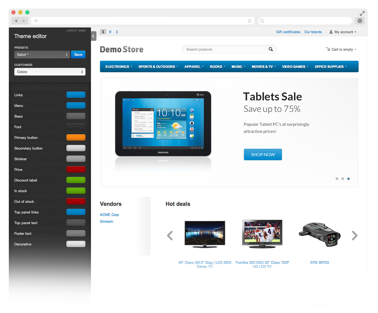 web storefront software